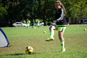 Eliza Vanciu, team's captain for our U13 girls soceer team